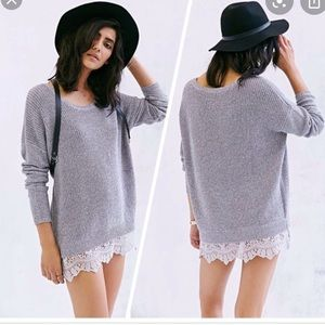 Urban outfitters Lace bottom sweater